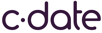 C-Date home, Online Dating Site, Company Name Logo